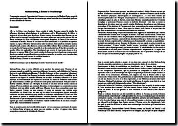 Maurice Merleau-Ponty, L'homme et son entourage, Extrait