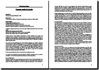 Exemple d'un compte-rendu de procès (méthodologie juridique)