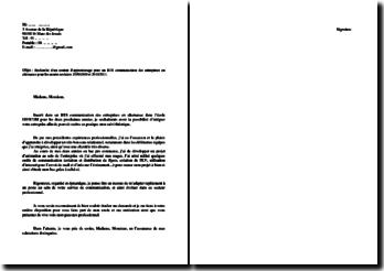 Lettre de motivation pour un contrat pro BTS Communication en alternance