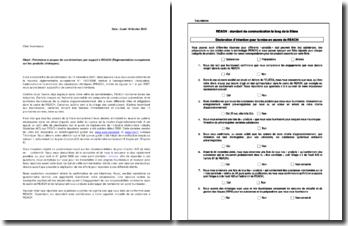 Lettre d'engagement à la réglementation européenne REACH
