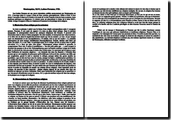 Montesquieu, Lettres Persanes, Lettre XLVI : commentaire