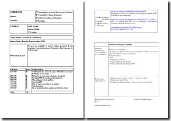 Etude CFE : progiciel de gestion intégré (PGI)
