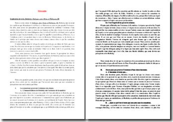 Berkeley, Dialogue entre Hylas et Philonous, III, Extrait : commentaire