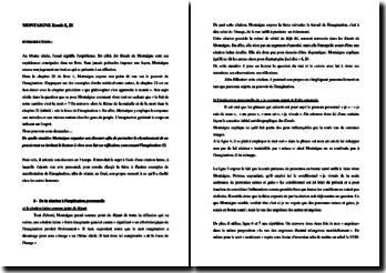 Montaigne, Essais, Livre 1, De la force de l'imagination : étude linéaire