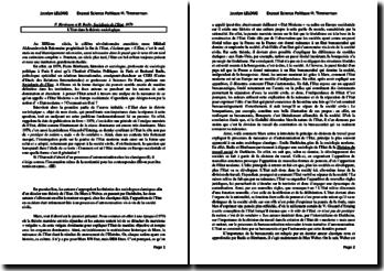 Birnbaum et Badie, Sociologie de l'Etat, L'Etat dans la théorie sociologique : fiche de lecture