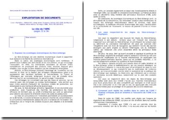 Le rôle de l'OMC (Organisation Mondiale du Commerce)