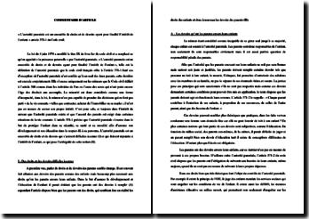 Commentaire sur l'article 371-1 du Code civil
