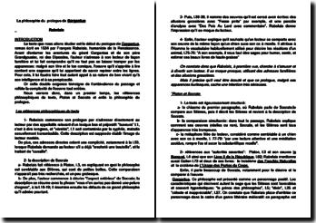 François Rabelais, Gargantua : la philosophie du prologue