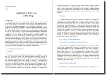 La philosophie de Dom Juan : le libertinage