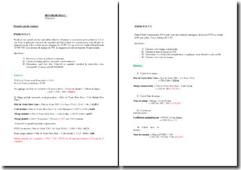 Devoir type de Management et Gestion des Unités Commerciales (MGUC)
