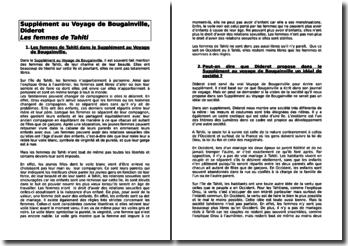 Denis Diderot , Supplément au Voyage de Bougainville, Les femmes de Tahiti