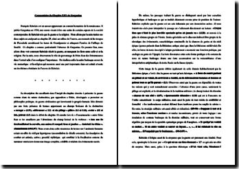 François Rabelais, Gargantua, Chapitre 25, Comment un moine de Seuillé sauva l'enclos de l'abbaye du saccage des ennemis : commentaire