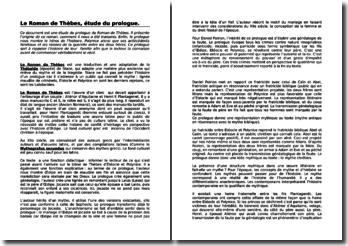 Le Roman de Thèbes, étude du prologue