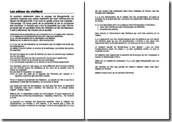 Denis Diderot, Le voyage de Bougainville, Les adieux du vieillard