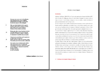 Guillaume Apollinaire, Alcools, Salomé : commentaire