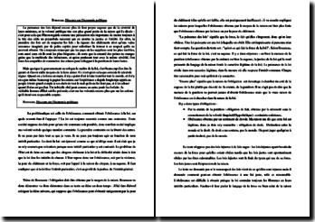 Rousseau, Discours sur l'économie politique, Extrait : commentaire