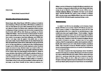 Roland Mousnier, L'assassinat d'Henri IV : fiche de lecture