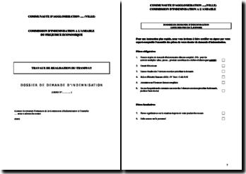 Lettre de demande d'indemnisation à la mairie pour préjudice économique