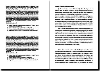 Nietzsche, Humain, trop humain, La question de la création artistique : explication de texte