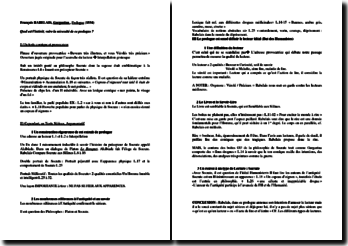 Rabelais, Gargantua, Prologue : plan de commentaire