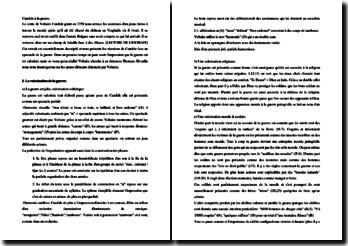 Voltaire, Candide, Chapitre 3, Candide à la guerre : commentaire