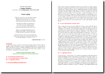 Baudelaire, Semper Eadem : commentaire