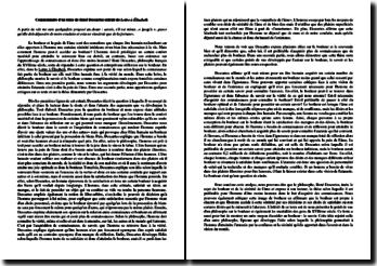 Descartes, Lettre à Elisabeth, Extrait