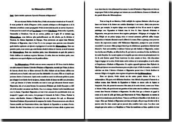 L'épisode d'Atalante et Hippomène dans les Métamorphoses d'Ovide