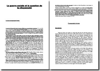 Velleius Paterculus, la guerre sociale et la question de la citoyenneté