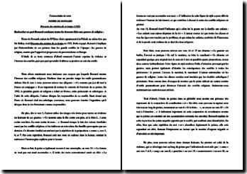 Pierre de Ronsard, Discours des misères de ce temps, à la reine mère du roi : les horreurs liées aux guerres de religion : commentaire