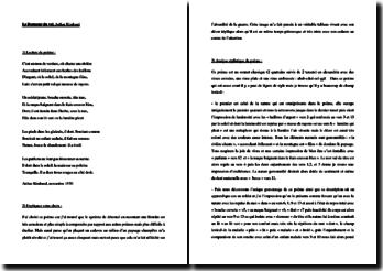 Rimbaud, Le dormeur du val: commentaire (niveau Collège)