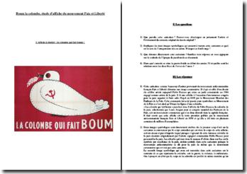 Boum la colombe, étude d'affiche du mouvement Paix et Liberté