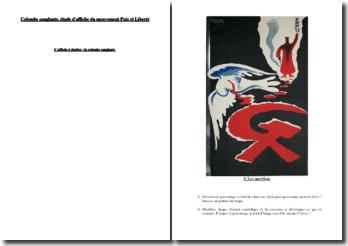 Colombe sanglante, étude d'affiche du mouvement Paix et Liberté