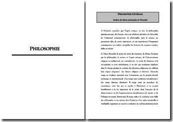 Analyse des thèses principales de Nietzsche
