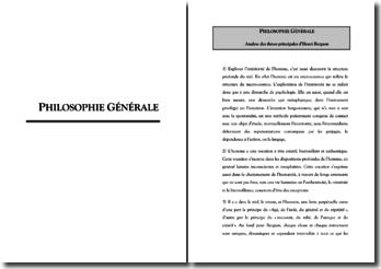 Analyse des thèses principales d'Henri Bergson