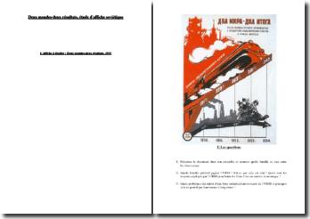 Les industries soviétique et américaine : étude d'affiche soviétique
