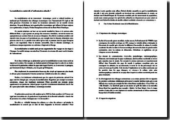 mondialisation et uniformisation culturelle dissertation