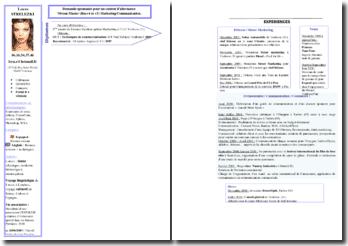 Modèle de CV : contrat d'alternance en Marketing / Communication