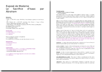 Comparaison de trois Sacrifices d'Isaac (Andrea del Sarto, Jean Colombe, Giotto)