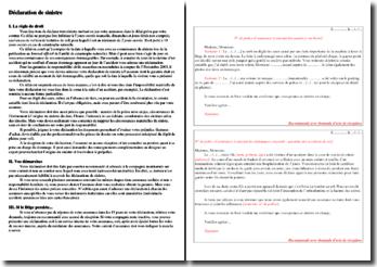 Déclaration de sinistre : lettres types et démarche