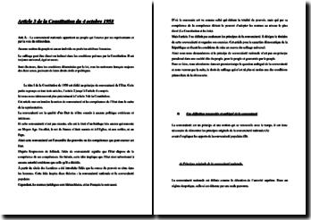 L'article 3 de la Constitution du 4 octobre 1958