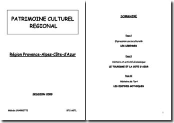 Dossier pour l'épreuve de Patrimoine régional (BTS AGTL)