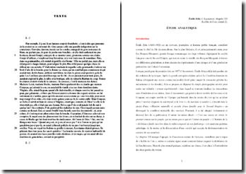 Emile Zola, L'Assommoir, Chapitre VII, La fête de l'oie (extrait 2) : commentaire