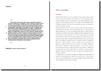 Emile Zola, L'Assommoir, Chapitre XII, Extrait : commentaire