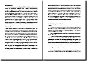 La Bruyère, Caractères, Chapitre XIII, Diphile : commentaire