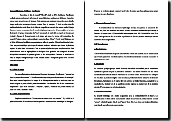 Guillaume Apollinaire, Le Pont Mirabeau : commentaire