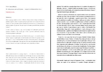 Epicure, Lettre à Ménécée, Le bonheur : explication de texte
