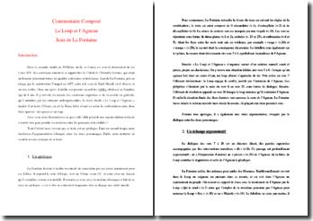 La Fontaine, Fables, Le Loup et l'Agneau : commentaire