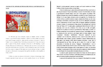 Analyse d'une affiche de propagande pour la Révolution Nationale, le programme politique du gouvernement de Vichy