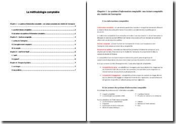 La méthodologie comptable